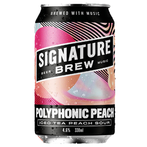 Signature Brew Polyphonic Peach - Iced Tea Sour  330ml (4.6%) - indiebeer