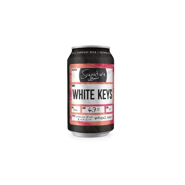 Signature Brew White Keys Passionfruit and Hibiscus Wheat Beer 330ml (4%)