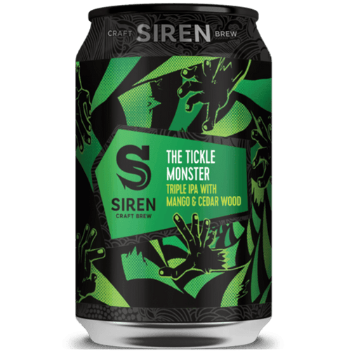Siren The Tickle Monster Triple IPA with Mango and Cedar Wood 330ml (11%) - indiebeer
