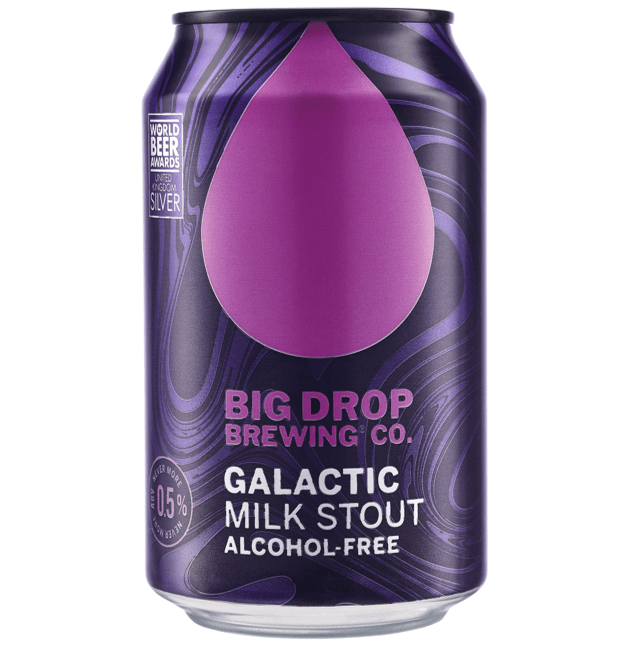 Big Drop Galatic Milk Stout Low Alcohol 330ml (0.5%)