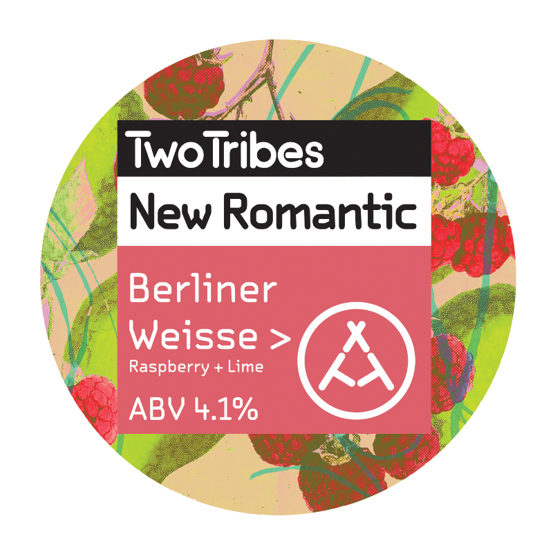 Two Tribes New Romantic Raspberry + Lime Berliner Weisse Sour 440ml (4.1%)