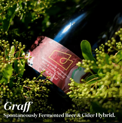 London Beer Factory Barrel Project x Hawkes Collab Graff Spontaneously Fermented Beer & Cider Hybrid 750ml (6.5%)