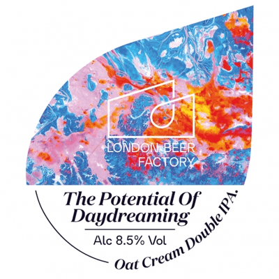 London Beer Factory The Potential of Daydreaming, Oat Cream DIPA 440ml (8.5%) - indiebeer