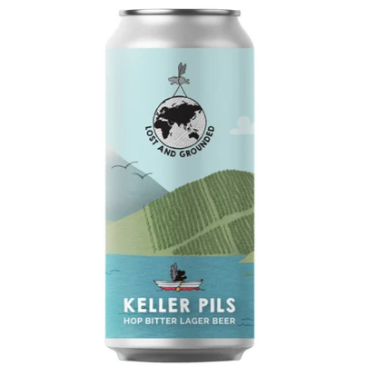 Lost And Grounded Keller Pils Lager 440ml (4.8%)