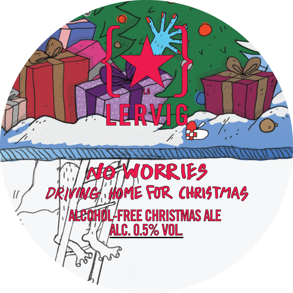 Lervig No Worries Driving Home For Christmas Alcohol Free Christmas Ale 440ml (0.5%)