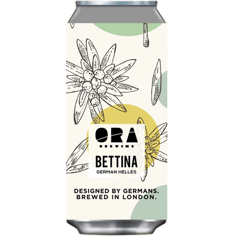 ORA Brewing Bettina Helles Lager 440ml (4.9%)