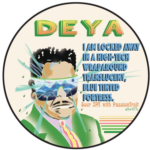 DEYA I Am Locked Away In A High-Tech Wraparound Translucent, Blue Tinted Fortress Sour Passionfruit IPA 500ml (6%) - indiebeer