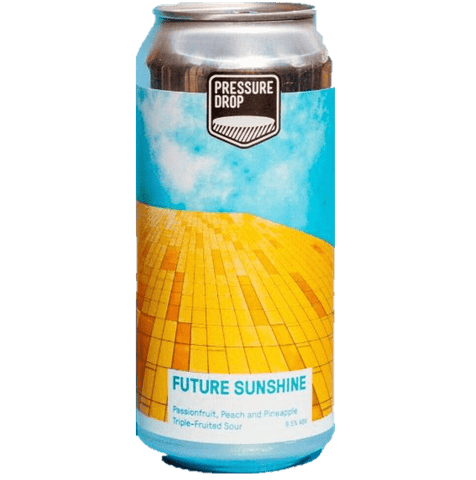 Pressure Drop Future Sunshine Peach, Pineapple & Passionfruit Sour 440ml (6.5%) - indiebeer