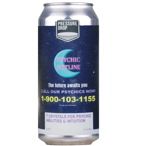 Pressure Drop 7 Crystals for Psychic Abilities and Intuition DIPA 440ml (8.5%) - indiebeer