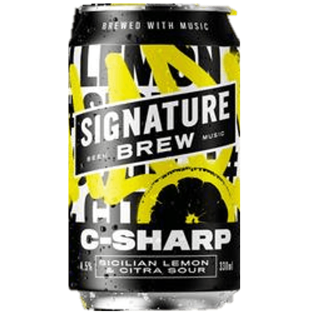 Signature C-Sharp Sicilian Lemon and Citra Hop Sour 330ml (4.5%)