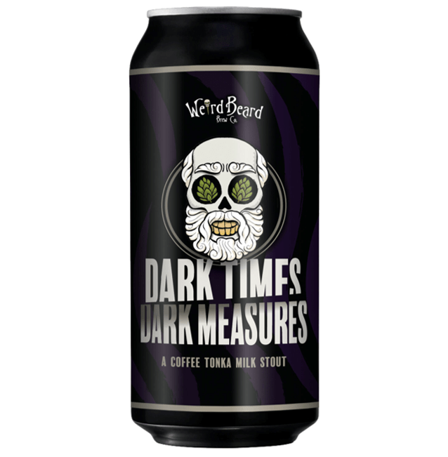 Weird Beard Dark Times/Dark Measures Coffee Tonka Milk Stout  440ml (6.2%)