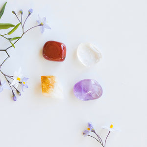 The Perfect Gift: Crystal Intention Set + Palo Santo Cleansing Wand