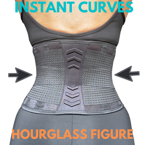 LAPS FIT Waist Trainer Belt for Women-Body Shaper- Waist Trimmer – Sweat Sport Girdle -Double Compression- Extra Back Support
