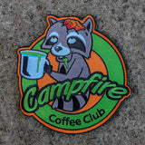 "Raccoon Coffee Patch V2 ""Zombie Trash Panda"""