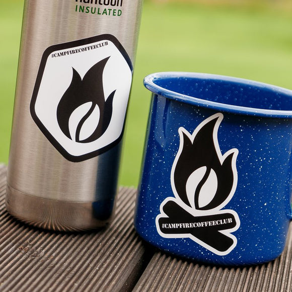 Campfire Coffee Club Logo Stickers