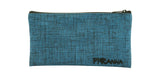 Blue Burlap Zipper Case