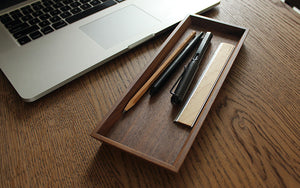 HACOA Wooden Rectangular Caster Tray
