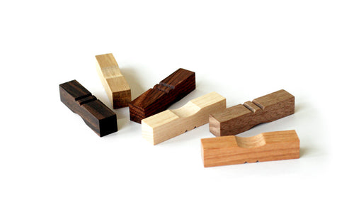 Wooden Chopstick Rests - set of 6