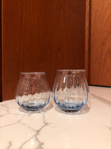 Blue Glass Sake Cup