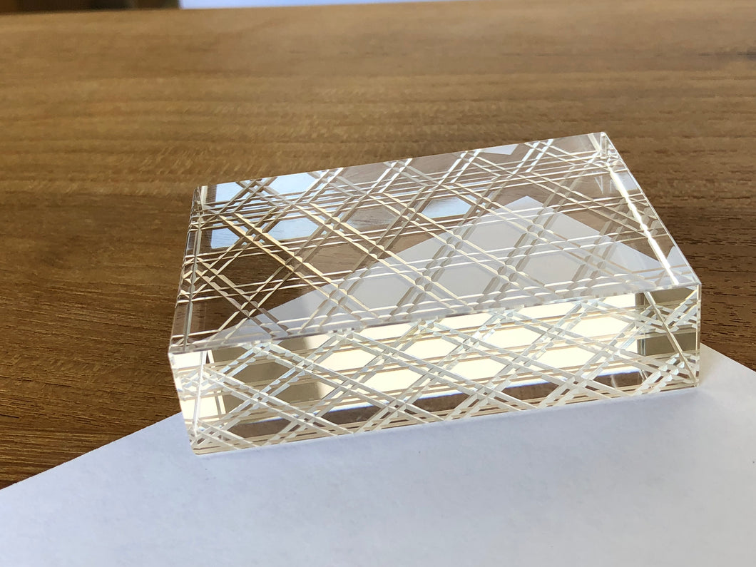 KIRIKO Glass Paper Weight (Rectangular)