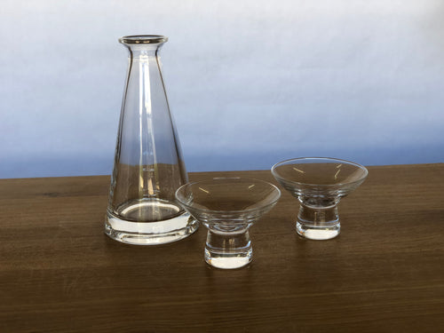 Sake Bottle & 2 Cups Set