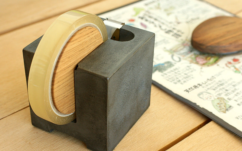 Cast Iron and Wooden Tape Dispenser
