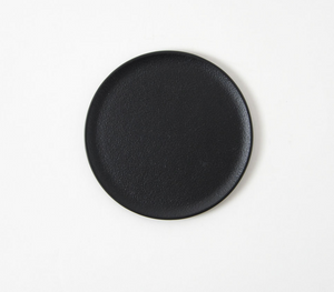 Round Tray - Black & Silver