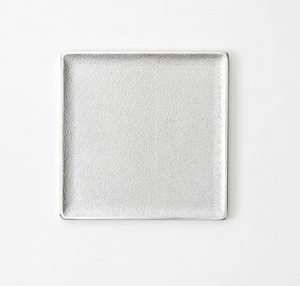 Square Tray - Black & Silver
