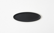Oval Tray - Black & Silver