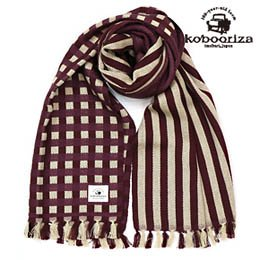 Wool Dots & Stripe Scarf