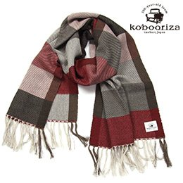 Wool Twill Check Scarf