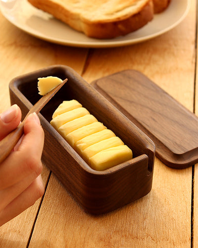 Wooden Butter Case with slot