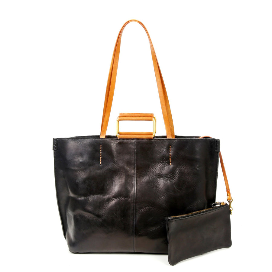 Heather, Leather Tote Bag