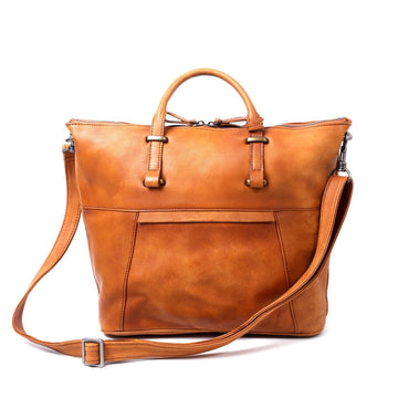 Grace Large Leather Crossbody Tote