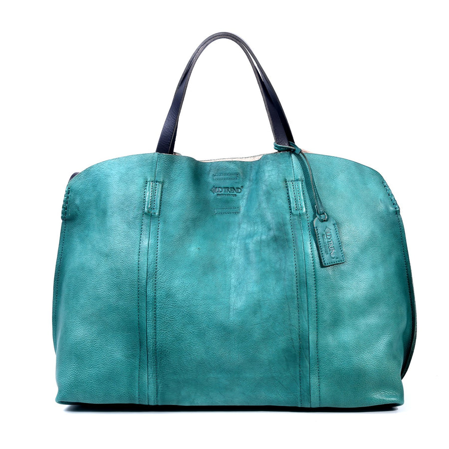 Forest  Leather Tote