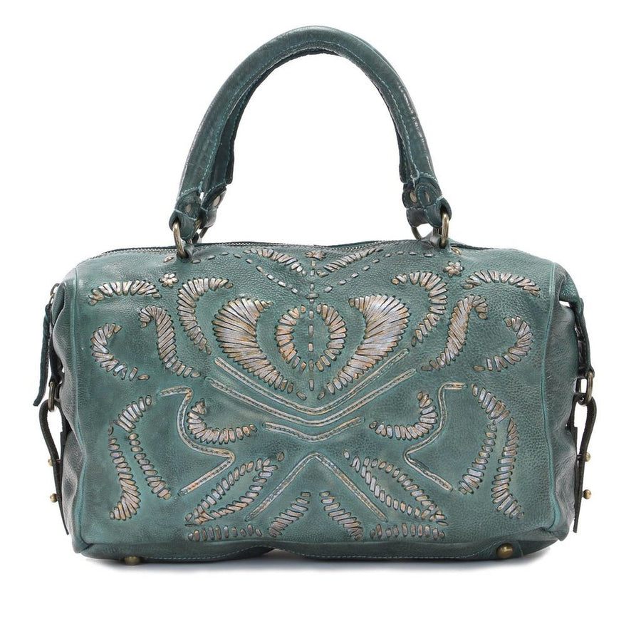 breeze satchel in kale green