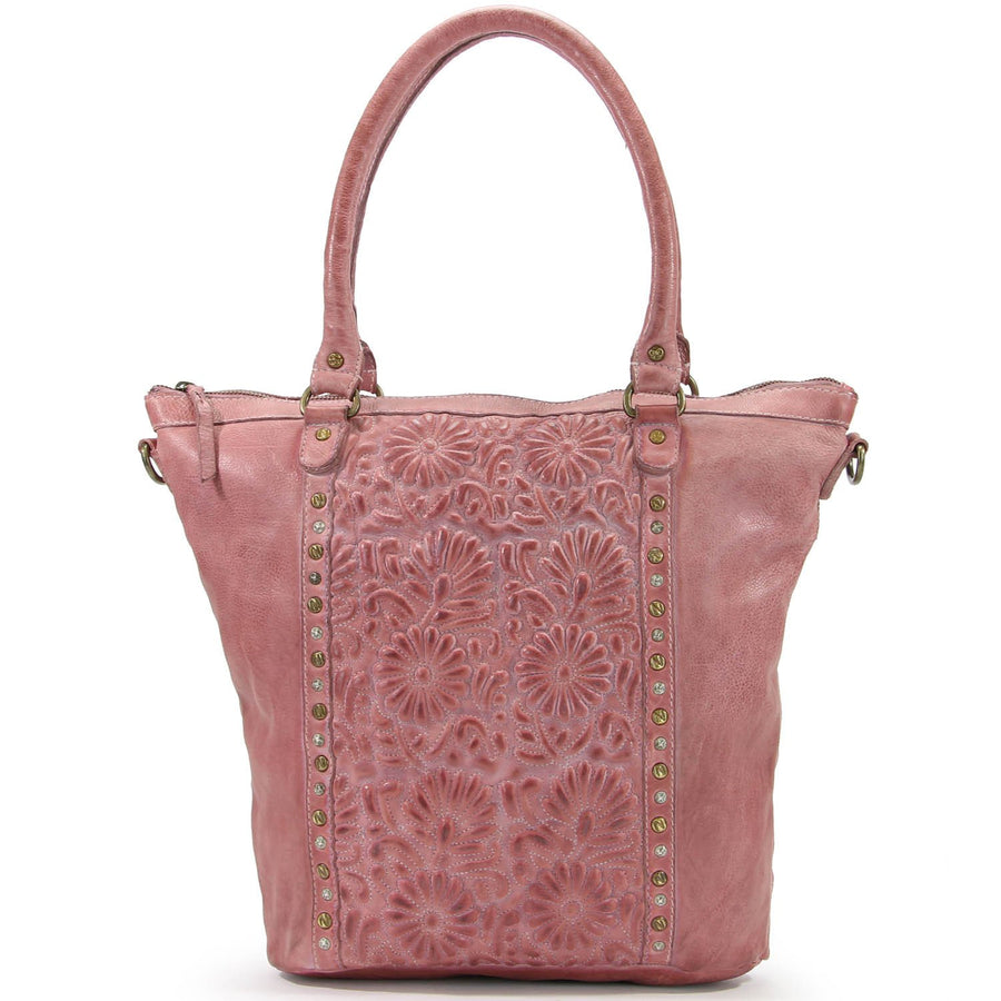 Flora Leather Tote Bag