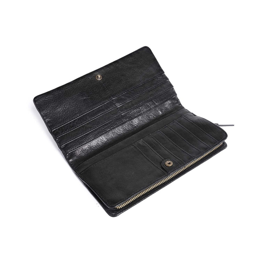 Camellia Leather Wallet