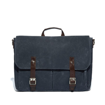 alec messenger bag available in navy, charcoal and olive
