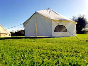 Glamping XL Fire Retardant Premium Luxury Cotton Canvas Bell Tent With Stove Hole