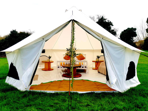 BTV 4 XL Fire Retardant Cotton Canvas Bell Tent With Stove Hole