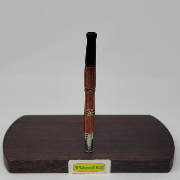 8mm OD Dynavap Stem in Cocobolo w/Philippine Ebony Mouthpiece & Inlay work By Aezhen Wood