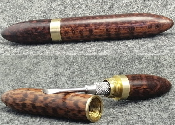 Custom Dabtool and Case in Snakewood by PhattPiggie