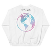 """Support Trans Futures"" White Crewneck with Globe Back"