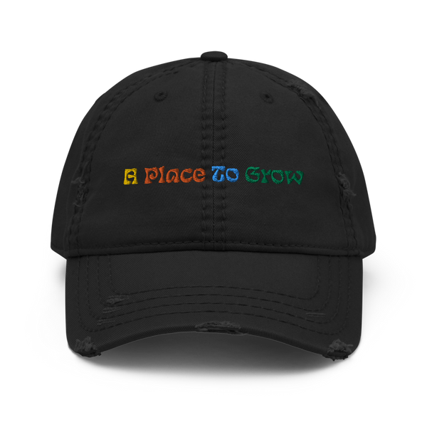 """A Place to Grow"" Distressed Hat"
