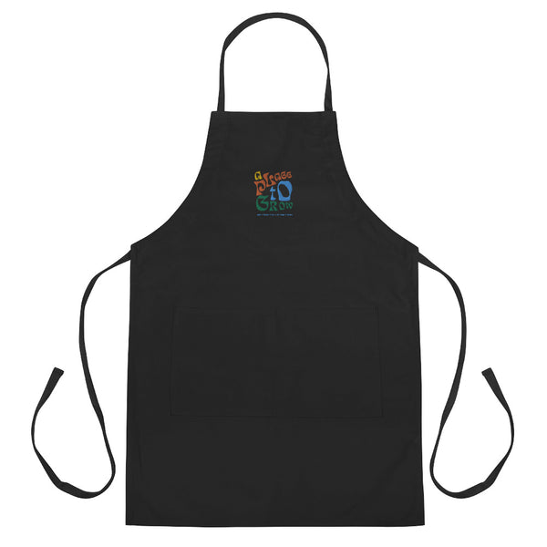 """A Place to Grow"" Embroidered Apron"