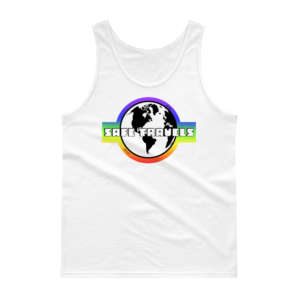 'Safe Travels' Rainbow Logo Tank Top