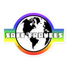 'Safe Travels' Rainbow Logo Sticker
