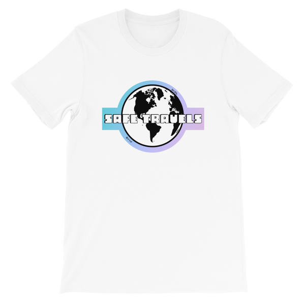 'Safe Travels' Logo White Short-Sleeve T-Shirt