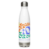 """A Place to Grow"" Logo + Bouquet Stainless Steel Water Bottle"